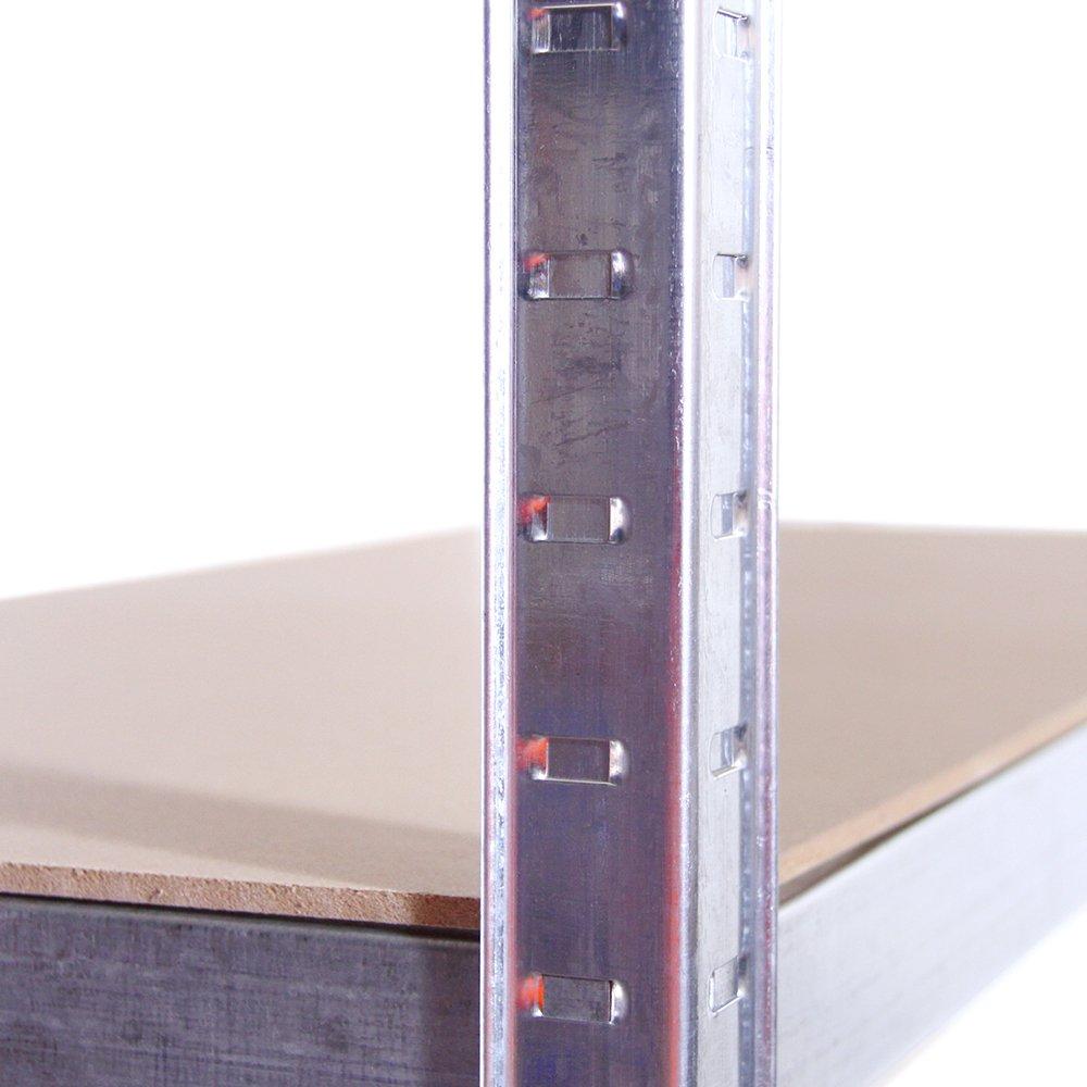 Office 1 Bay 875KG Capacity Heavy Duty Racking Shelves for Storage 5 Year Warranty Garage Shelving Units: 180cm x 90cm x 40cm Shed For Workshop 175KG Per Shelf Galvanised Steel 5 Tier