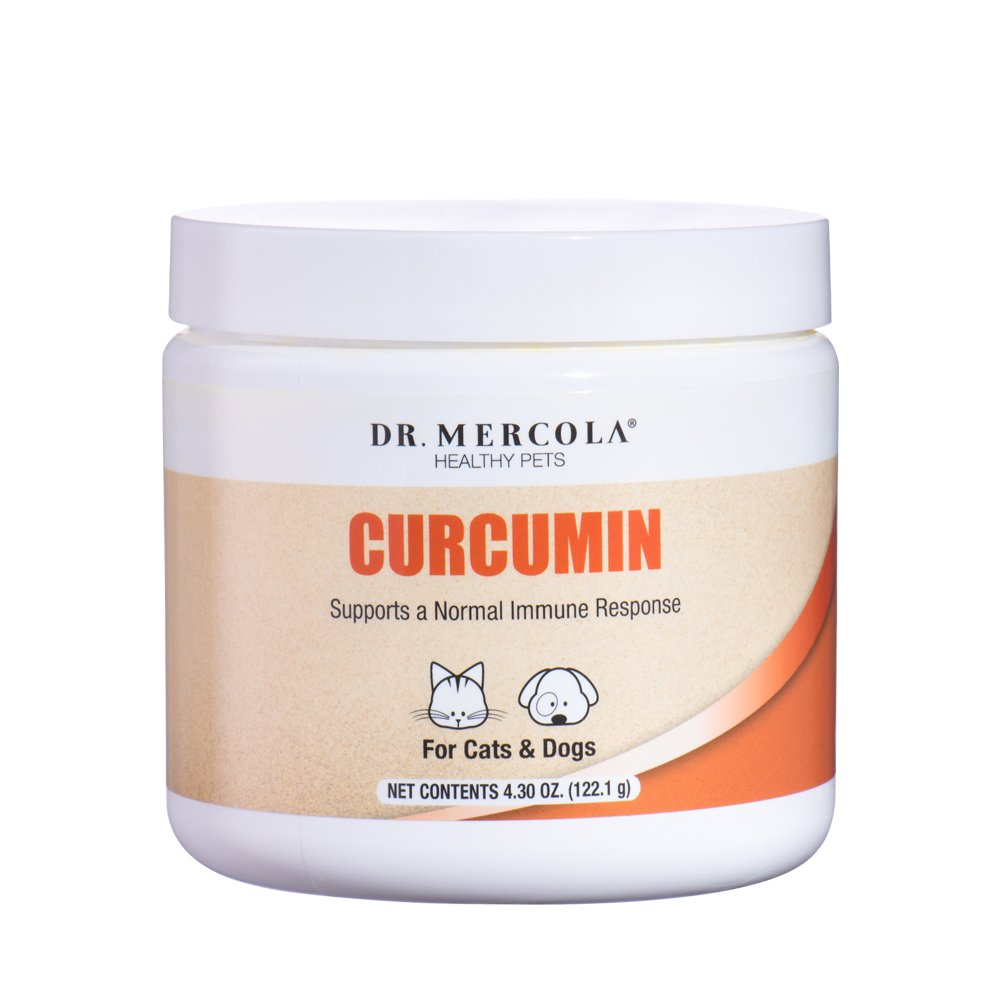 Dr. Mercola, Curcumin, for Cats and Dogs, 4.30 oz (122.1 g), with Microactive Curcumin (Root), Supports a Normal Immune Response, Non GMO, Soy Free, Gluten Free by Dr. Mercola