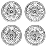 Hubcaps 14 inch Wheel Covers - (Set of 4) Hub Caps for 14in Wheels Rim Cover - Car Accessories Chrome Hubcap Best for 14inch Cars Standard Steel Rims - Snap On Auto Tire Replacement Exterior Cap