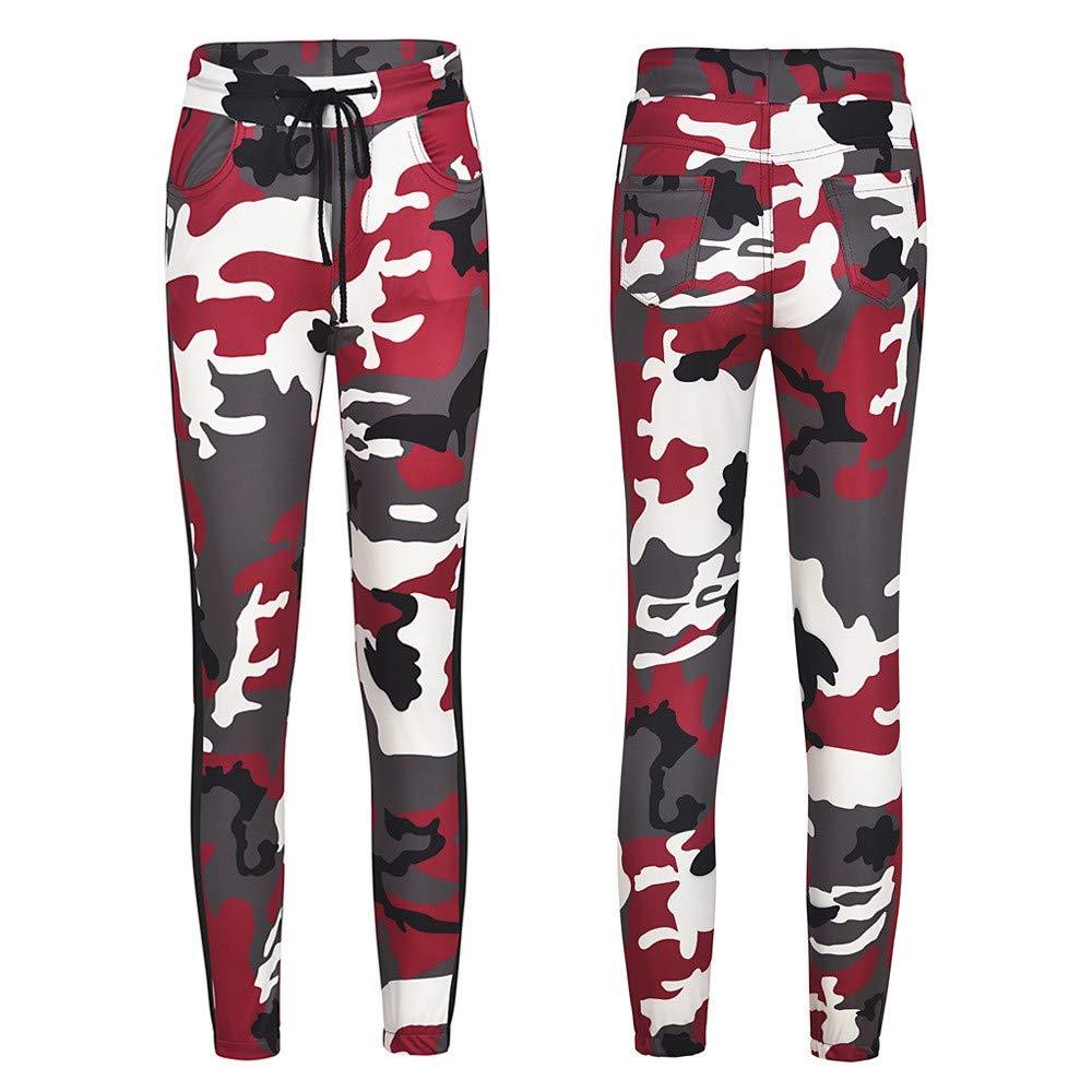 MEIbax-pantaloni Pantaloni Moda Donna, Jogger,Casual Stampa Mimetica Cascante Trousers, Pantaloni della Tuta