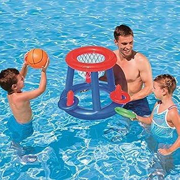 Funyake Infantil Inflable Flotante Canasta de Baloncesto Anillo ...