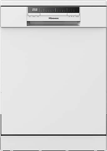 Hisense - Lavavajillas HS60240W clase A++, Capacidad para 13 servicios, Color Blanco de 60 Cm, 6 Programas, bajo nivel sonoro, 2 Cestas, Filtro autolimpiable, Contador digital con programa Ecológico: Amazon.es: Grandes electrodomésticos