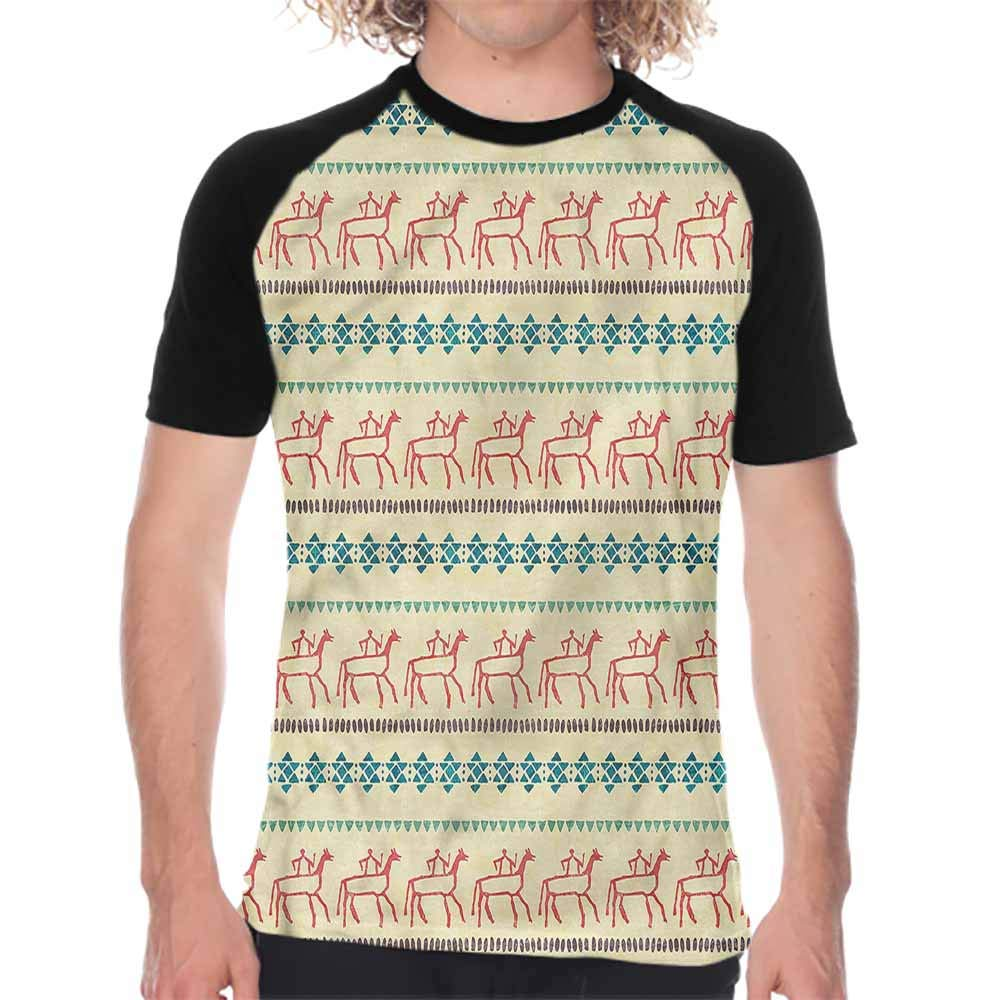 Primitive,Mens Short Sleeve Shirts Native American Masks,Summer Style Mens Tees
