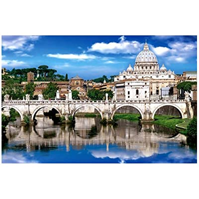 St. Peter's Basilica 1000 Pieces Wooden Jigsaw Puzzles Adults Decompression Toys Learning Educational Game for Kids: Toys & Games