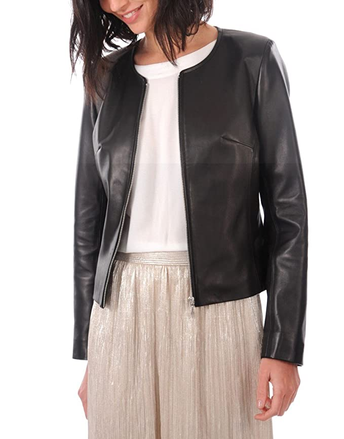 OutFit11 Womens Lambskin Leather Bomber Biker Jacket - Winter Wear - Extremely Soft & Smooth at Amazon Womens Coats Shop