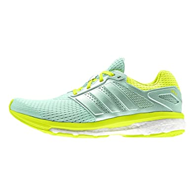 cee683f58a50c adidas Supernova Glide Boost Running Sneaker Shoe - Green Yellow - Womens -  6.5  Amazon.co.uk  Shoes   Bags