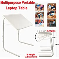 Foldable Portable Adjustable Tray Table Laptop Desk Bed Office Mate TV Dinner AU