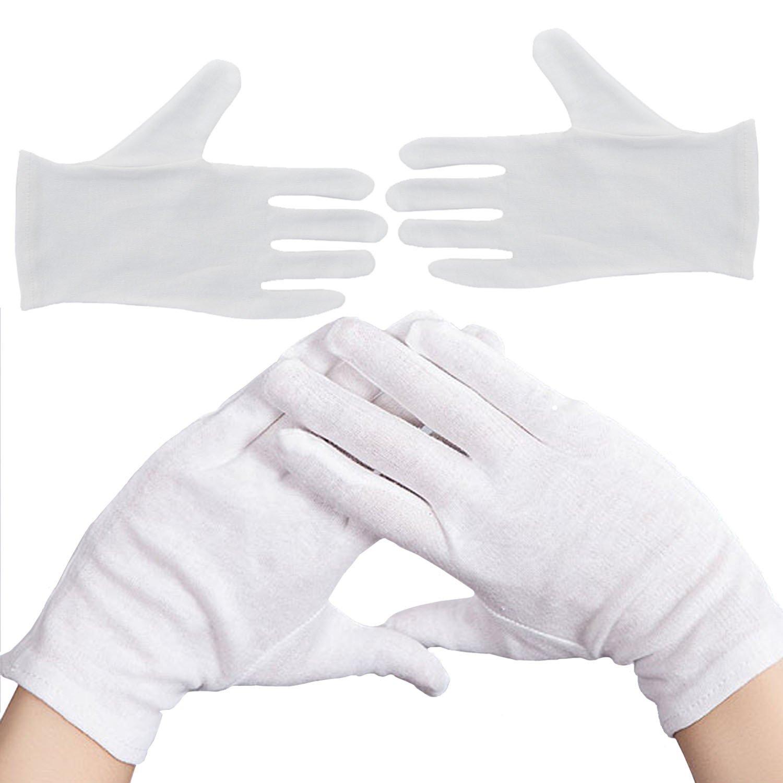 UK 100/% Cotton 2 Pairs White Moisturising Lining Glove Health Music canvas work