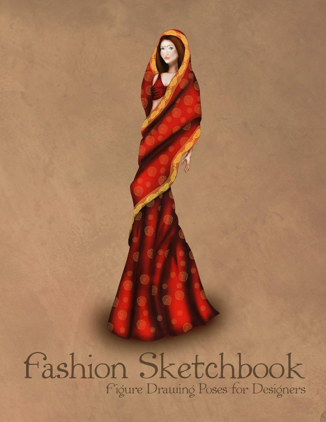 Fashion Sketchbook Figure Drawing Poses For Designers Large 8 5x11 With Bases And Indian Traditional Clothing Vintage Fashion Illustration Cover Sketchbooks Fashion Template 9781725899605 Amazon Com Books