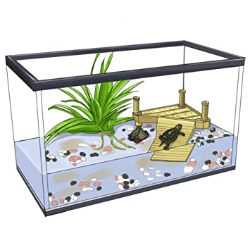 Wear-Beauty - Depósito de acuario, resina de paisaje submarino, tortuga de tortuga