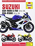 Suzuki GSX-R600 and 750 (04-05) GSX-R1000 (03-08) Service and Repair Manual (Haynes Motorcycle Manuals)