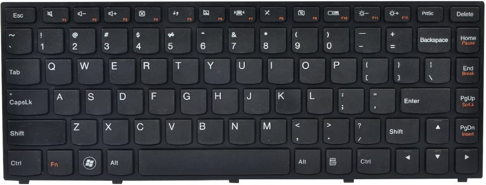 Eathtek Replacement Keyboard with Frame No Backlight for Lenovo IdeaPad Yoga 13 Yoga13-IFI Yoga13-ITH Yoga13-ISE Series Black US Layout