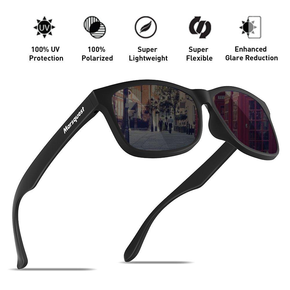 Mens Polarized Sunglasses - Momentum Memory Material Durable & Lightweight
