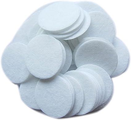 34 to 5 inch Cream Felt Circles