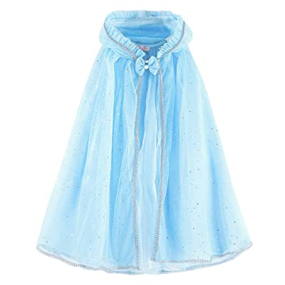 Zerayo Girls Hooded Cloak Princess Unicorn Costume Cape Pretend Play Dress up: Clothing