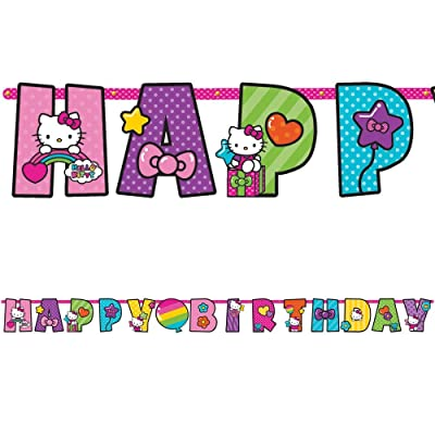 Amscan Hello Kitty Rainbow 10 1/2ft. Letter Banner (Each) - Party Supplies: Toys & Games