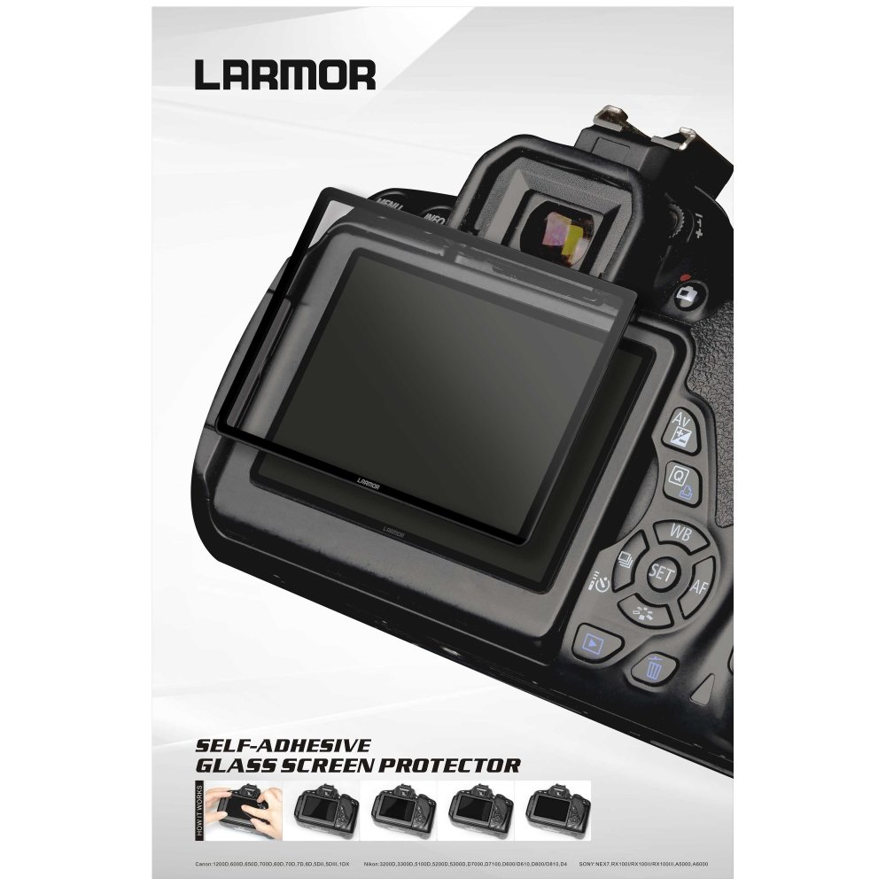 Transparent GGS LARMOR Self-Adhesive Optical Glass LCD Screen Protector for Canon EOS 6D Mark 2