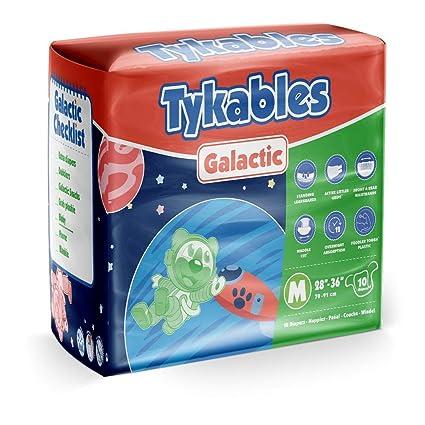 Tykables Galactic Pañal para Adultos ABDL - Paquete de 10 ...