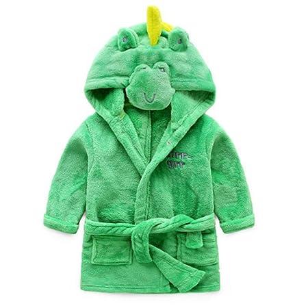 110 cm Pigiama Green Sconosciuto Accappatoio per Bambini Accappatoio in Pile Accappatoio per Bambini Super Morbido