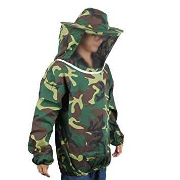 Farm /& Ranch Camouflage Beekeeping Jacket Veil Dress Hat Equip Suit Smock Protective Equipment