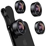 iPhone Camera Lens 3 in 1 Phone Lens Kit, 198 Fisheye Lens + 120 Super Wide-Angle Lens + 20x Macro Lens for iPhone Samsung An
