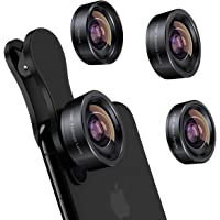 iPhone Camera Lens 3 in 1 Phone Lens Kit, 198 Fisheye Lens + 120 Super Wide-Angle Lens + 20x Macro Lens for iPhone…