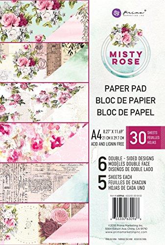 (Prima Marketing Inc. 630966 Misty Rose A4 Paper Pad, Multicolored )