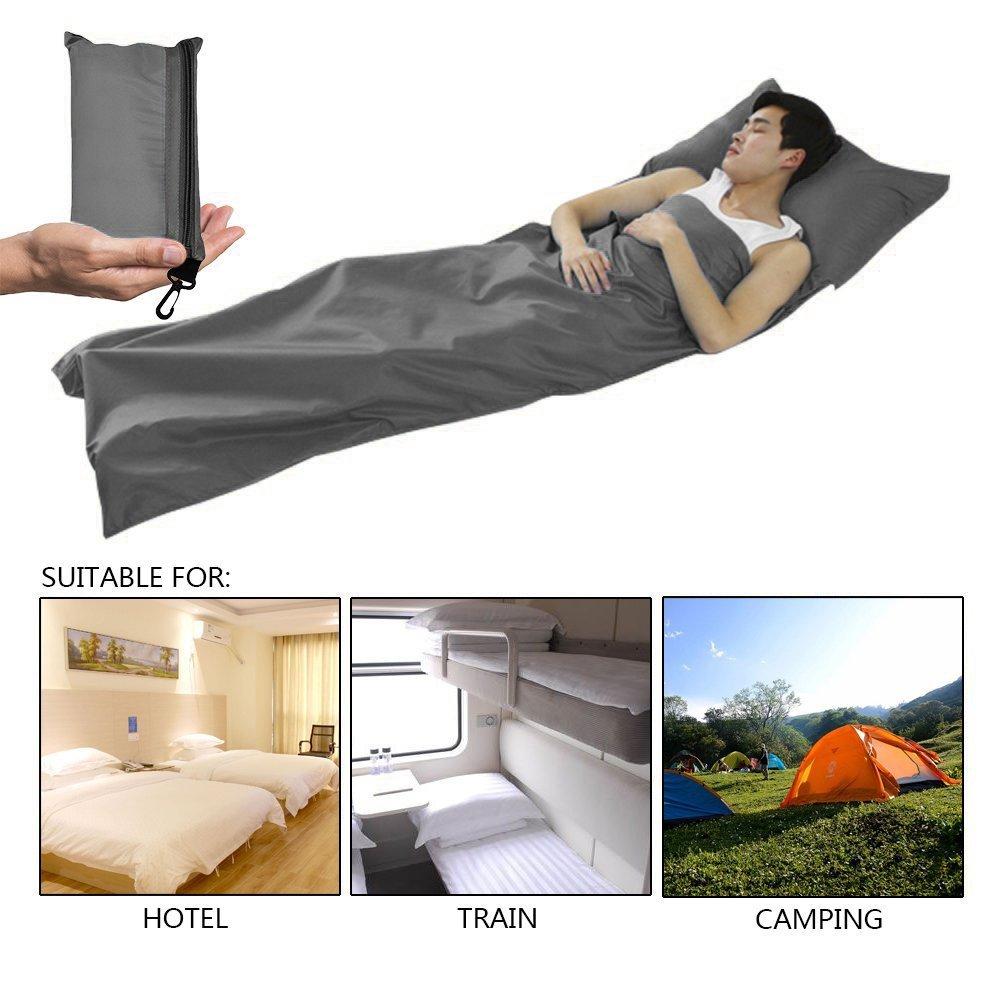 Lactancia Cool cabaña Saco de dormir para interior, microfibra,, mini Saco de dormir ligero Inlay, seda saco de dormir Viaje Saco de dormir, ...