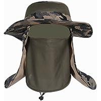 Black Temptation Hombres al Aire Libre Sombrero de la Pesca el Casquillo Que Sube Camuflaje Sombrero de Sol