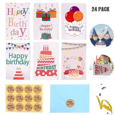 Amazon.com: Tarjetas de felicitación de cumpleaños con texto ...