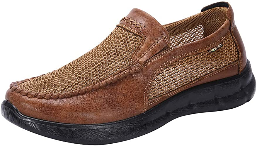 ZHANSANFM Herren Business Halbschuhe Slip On Breathable
