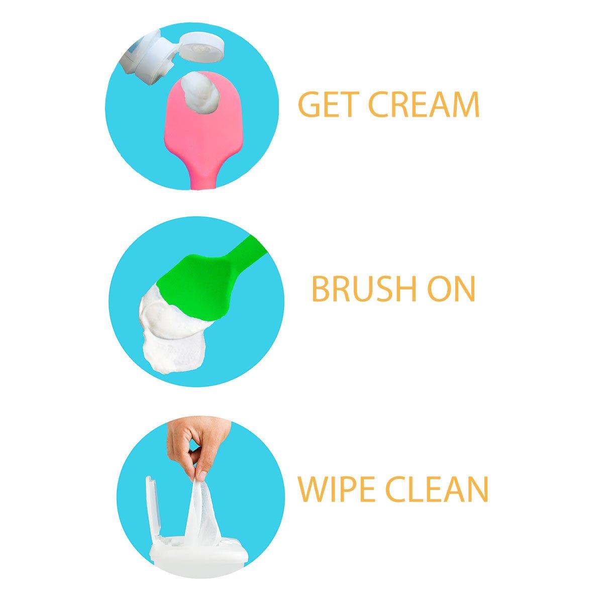 Pink BabyBum Diaper Cream Brush Soft Silicone Diaper Cream Applicator