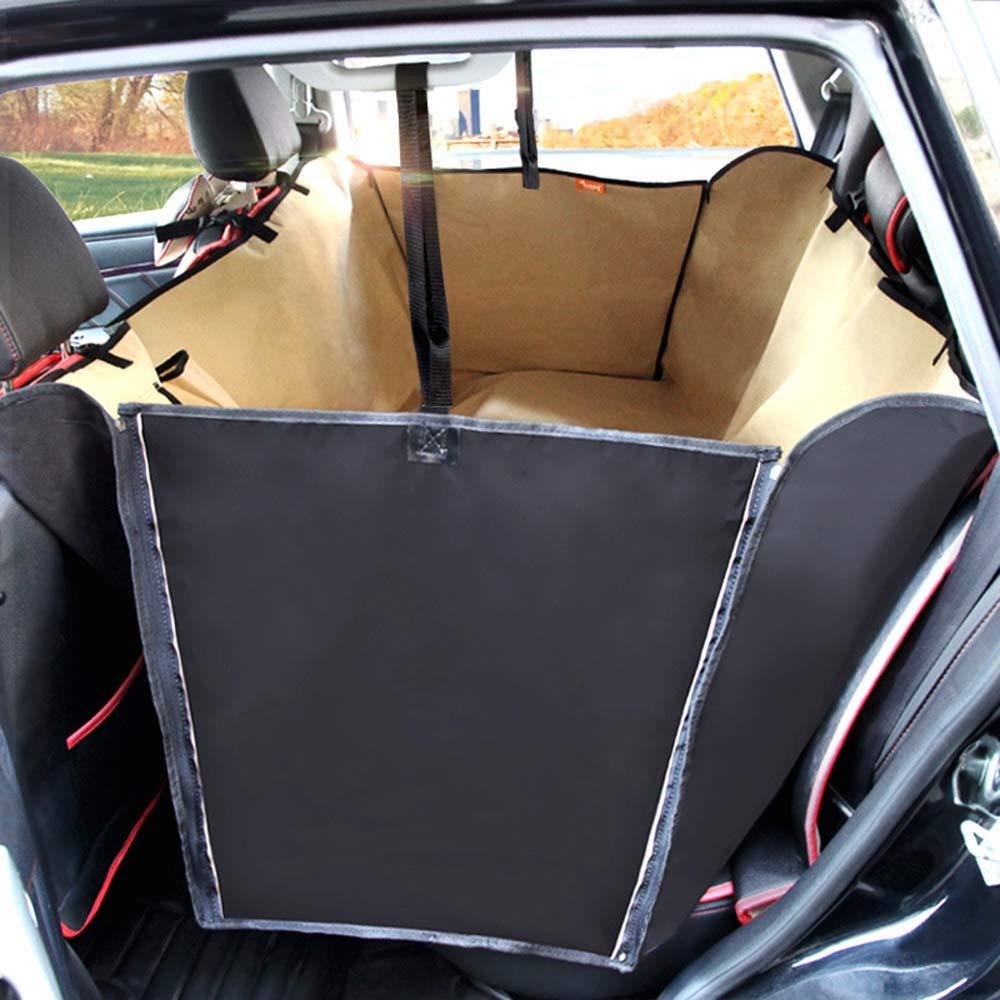 Beige 15013035cmKuaker Pet Car Seat Cushion Big Dog Car Rear Row Waterproof Wear Resistant Car Mat Oxford Cloth,Brown,165  143  50cm