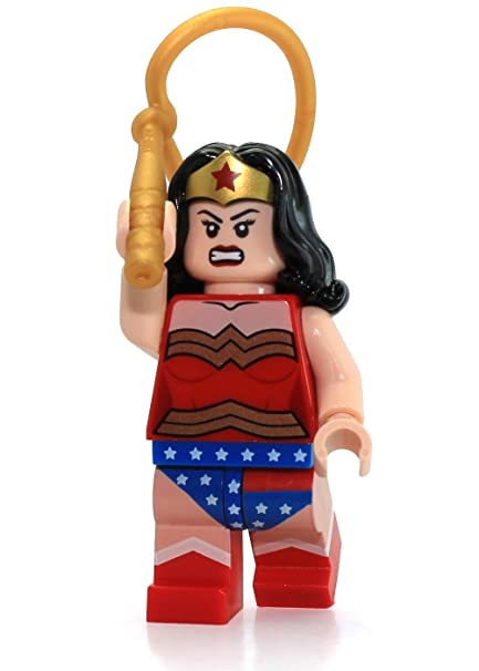 amazoncom lego dc comics super heroes minifigure wonder woman with gold lasso rope 6862 toys games