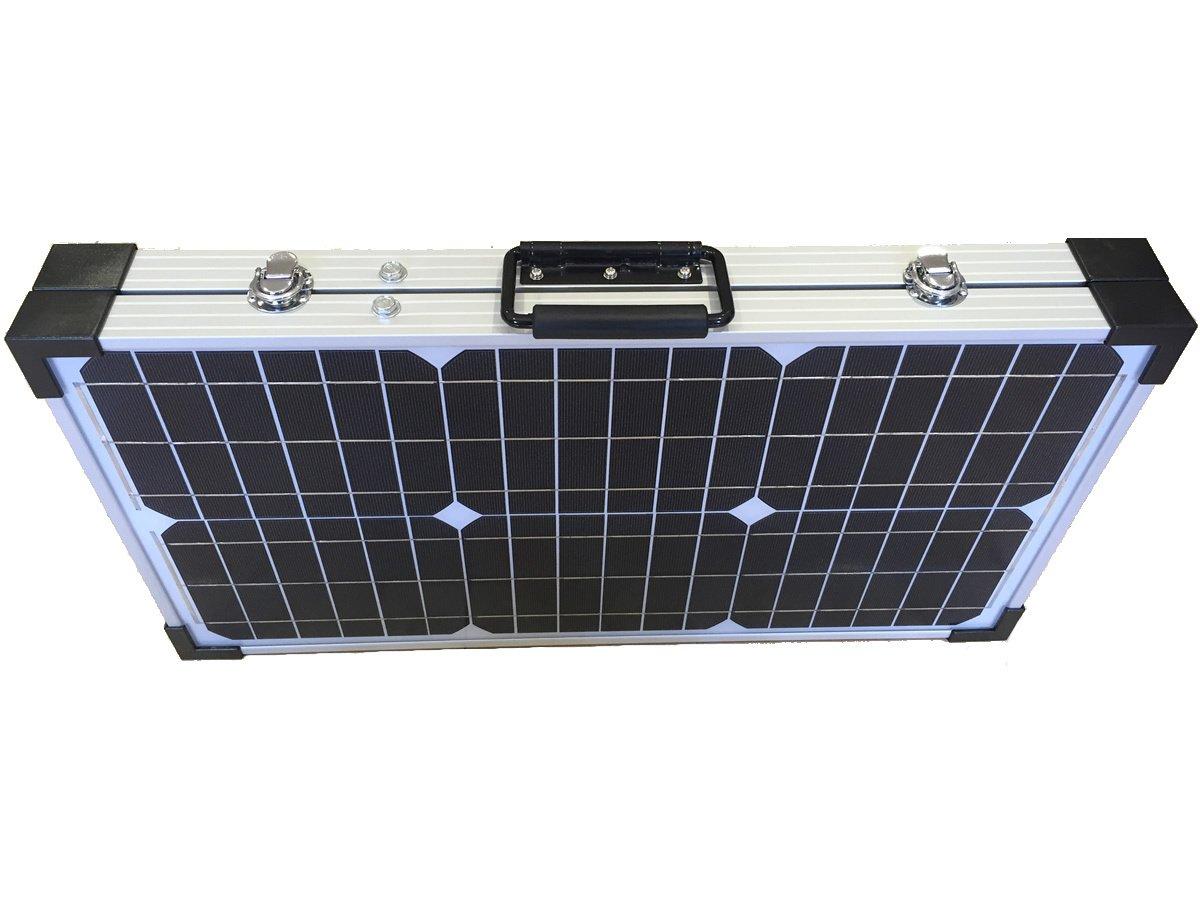 Solarpanel Monokristallines klappbar 60W mit Dimmer und Koffer