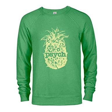f8690769 Amazon.com: USA Network Psych Vintage Yellow Pineapple Lightweight Crew Neck  Sweatshirt: Clothing