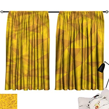 Buy Denruny Yellow Curtains Yellow Abstract Mosaic Design 54 X63 Window Curtain For Living Room Online At Low Prices In India Amazon In