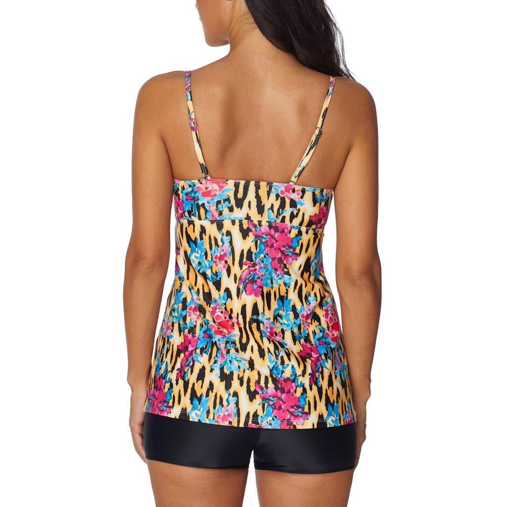 Caopixx Swimsuit for Womens Two Piece Tankini Set Boyshort Bathing Suit Swimwear Swim Dress