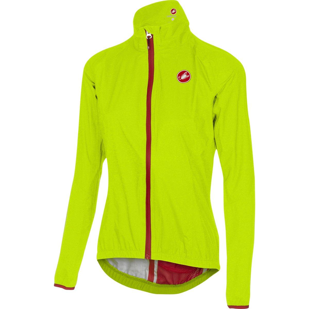 Castelli Riparo Jacket – Women 's B01M1Z0711 X-Small|イエロー(Yellow Fluo) イエロー(Yellow Fluo) X-Small