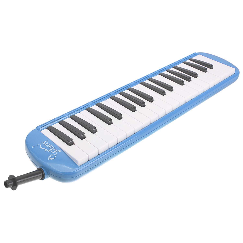 SHUTAO Glarry 37-Key Melodica Mouthpiece & Hose & Bag Blue
