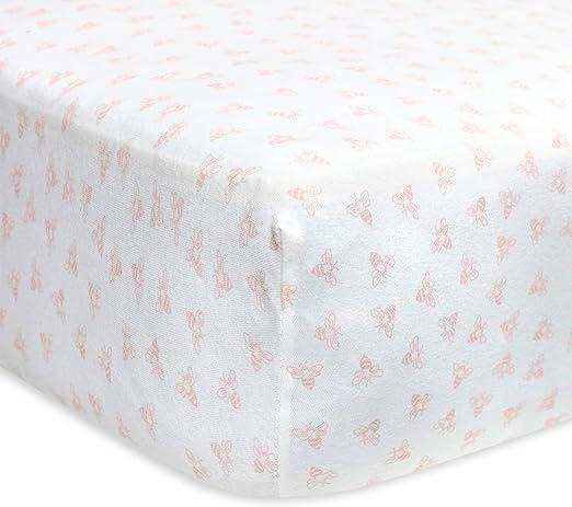 Fitted Crib Sheet Girls /& Unisex 100/% Organic Cotton... Burt/'s Bees Baby