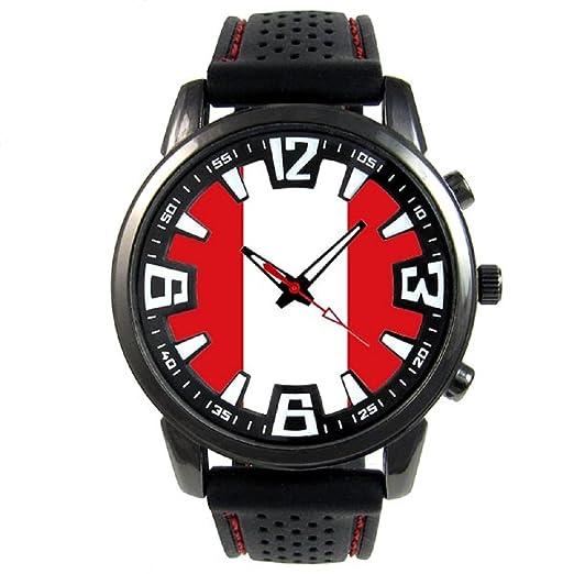 9f918e74f311 Peru Reloj para hombre con correa de silicona  Timest  Amazon.es ...