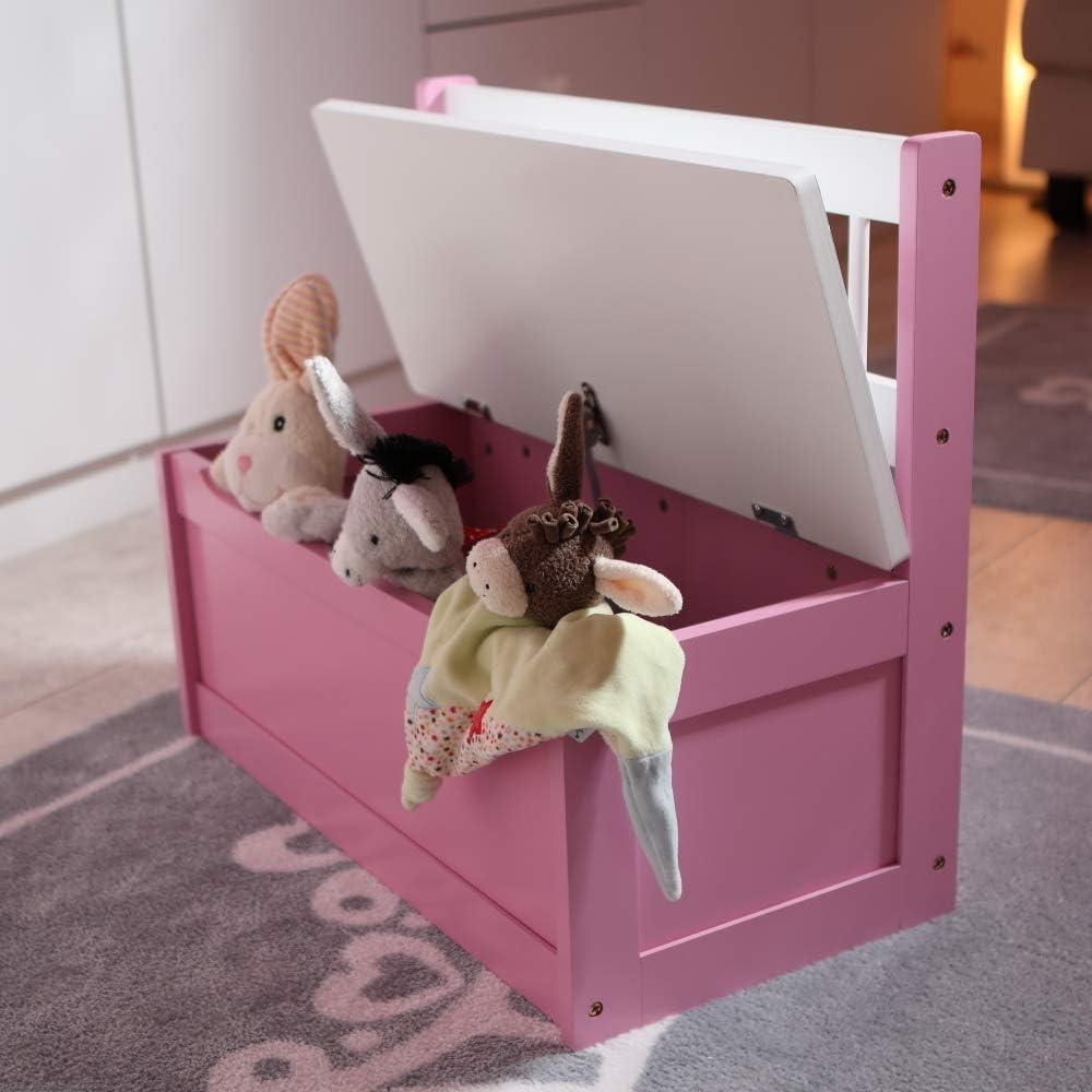 bois laqu/é Coffre de rangement pour enfant avec coffre de rangement et frein de couvercle 60 cm