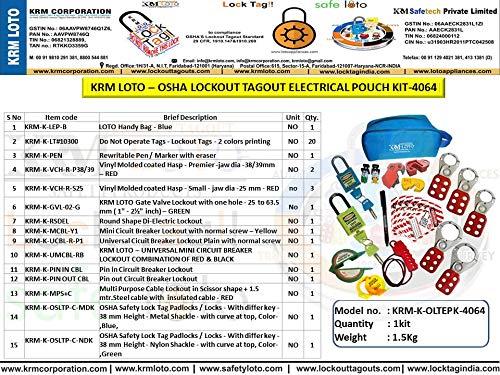 KRM Loto – OSHA Lockout TAGOUT Electrical Pouch KIT-4064