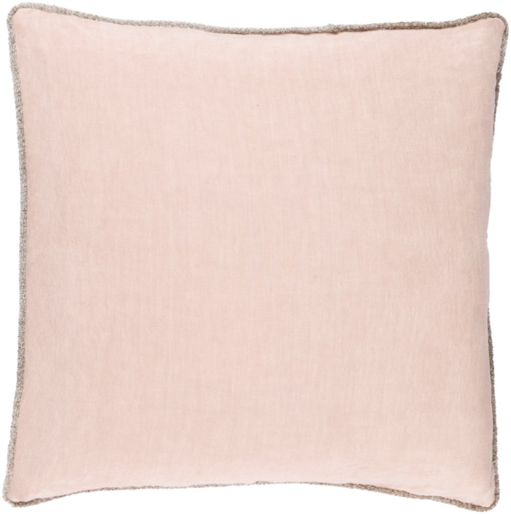 Solid & Border Pillow Cover Only Square 20'' x 20'' WL-068232-S