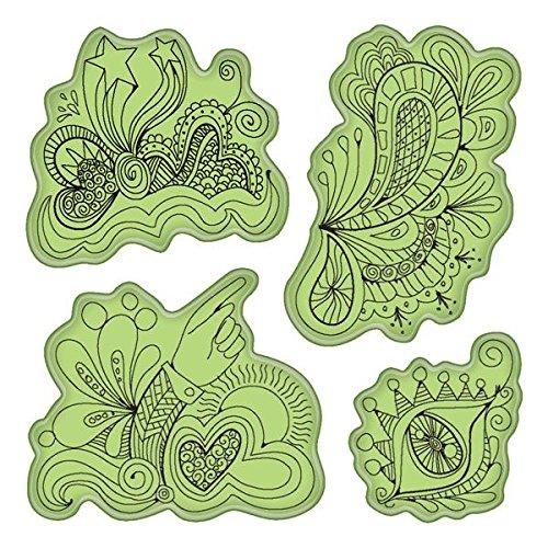 Inkadinkado Stamping Gear Cling Stamps, Doodle Fun