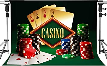 7x7FT Vinyl Photo Backdrops,Casino,Playing Cards Multiple Aces Photo Background for Photo Booth Studio Props