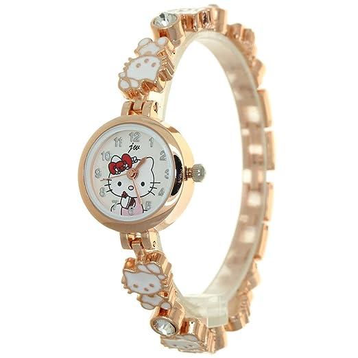 e34a9aeb5 Japanese Quartz Watch Women Bracelet Lover Kitty Dial Jewelry Watch  Stainless Steel Kitty Band Wristwatch Waterproof