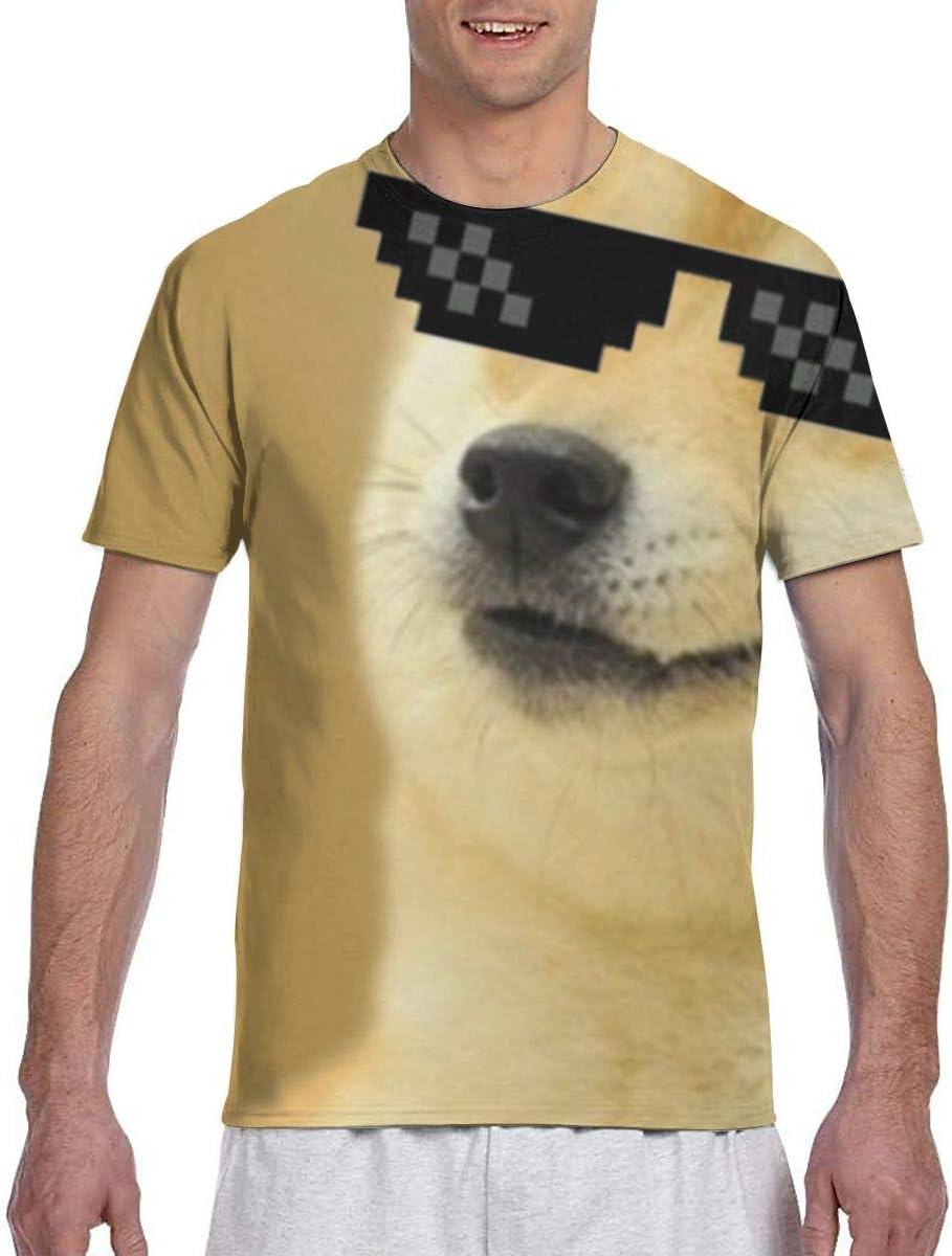 Cool Doge Dogs Athletic Running Gym Workout Camisetas de Manga Corta: Amazon.es: Ropa y accesorios