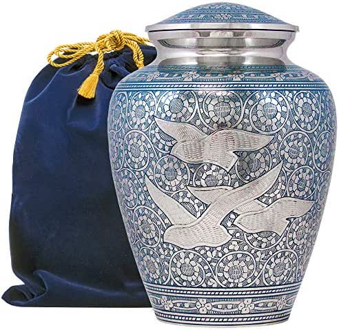 Wings of Love Elegant Adult Cremation Urn for Human Ashes - A Beautiful and Timeless Urn to Honor The One Your Love - Find Comfort Everytime You Look at This High Quality Urn - with Velvet Bag